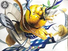 2d Design, Goldfish, Art Drawings, Objects, Creative, Artwork, Anime, Painting, Pictures