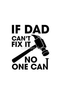 Dad Can Fix It Black