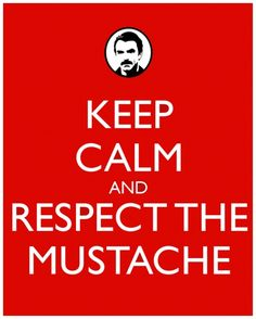 Keep Calm and Respect the Mustache