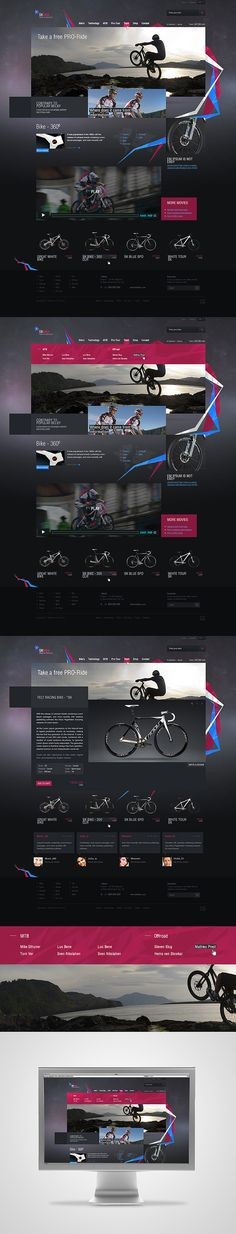 *SKbike by , via Behance nice web design styling ideas Web Layout, Website Design Layout, Webdesign Inspiration, Web Inspiration, Best Web Design, Web Design Trends, Digital Web, Professional Logo Design, Ui Web