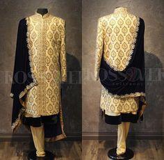 Blue Sherwani, Mens Sherwani, Wedding Sherwani, Punjabi Wedding, Designer Dress For Men, Designer Dresses, Wedding Groom, Wedding Men, Prince Suit