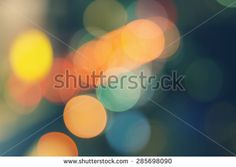 Vintage defocused abstract colorful night lights background. Bokeh light