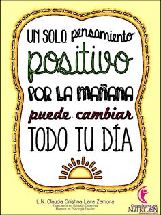 Piensa positivo!