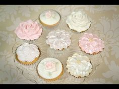 Karen Davies Cake Decorating Moulds / Molds - free beginners tutorial / how to - Cupcake Roses - YouTube