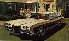 1971 Pontiac Grand Safari Station Wagon (by coconv) Vintage Cars, Antique Cars, Safari, Station Wagon Cars, Counting Cars, Pontiac Cars, Car Advertising, Us Cars, Custom Cars