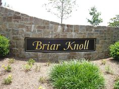 community entryway signs | Our most successful entrance and community signs include sandblasted ...