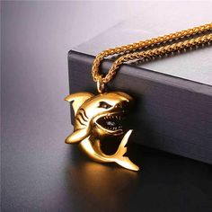 monicaexclusive Octopus Charms Necklace Sea Animals Pendant & Chain Men/Women Stainless Steel Gold Color Streetwear Jewelry Jewelry
