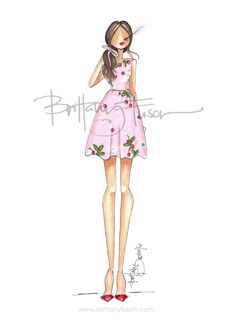 February 14 | Valentine's Day | outfit ideas | red and pink | Brittany Fuson | fashion illustration