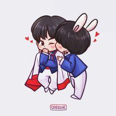 Read - VKook from the story Taekook, Fanart Bts, Vkook Fanart, Bts Chibi, Bts Anime, Vkook Memes, Jungkook Cute, Kawaii, Bts Drawings