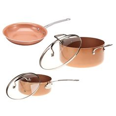 Ceramic NonStick Pans Set *** For more information, visit image link.-It is an affiliate link to Amazon.