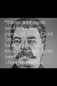 Joseph Stalin y sus ideas...CUIDADO: el que no sabe de HISTORIA, corre el riesgo de repetirla!
