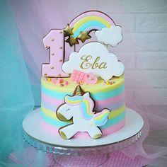 New cupcakes unicornio betun Ideas Wedding Cakes With Cupcakes, Fun Cupcakes, Cupcake Cakes, 4th Birthday Cakes, Quick Cake, Butterfly Cakes, Occasion Cakes, Girl Cakes, Cute Cakes