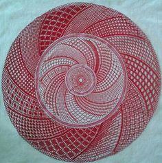 """""""Etude 1"""" von Majbrit Nissen aus Dänemark - gesehen auf facebook Bobbin Lace Patterns, Lacemaking, Crochet, Knitting, Facebook, Handmade, Inspiration, Farmhouse Rugs, Lace"""