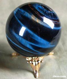 Blue Tiger Eye Crystal Ball