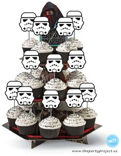 The Party Project   Star Wars party printables - Darth Vader and Stormtrooper cupcake toppers!