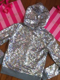 Sequined PINK sweater.. Too cute!!