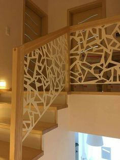 Modern Stair Railing, Stair Railing Design, Stairs And Staircase, Interior Staircase, Home Stairs Design, Stair Decor, Modern Stairs, House Stairs, Home Interior Design