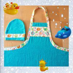 Baby Apron Towel with Matching Washmitt by NewBundleOfJoy on Etsy, $25.00