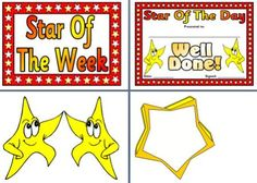 Instant Display Teaching Resources OtherPosters --- includes Star of the Week printable