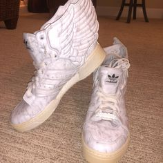super popular 18994 77a88 Jeremy Scott x Adidas Shoes   Jeremy Scott Adidas Wings 2.0   Color  White    Size  8.5