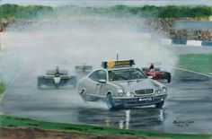 Original oil painting by Barrie Cann - British Grand Prix, Silverstone F1 #oil #painting #art #cars #F1 #Barrie #Cann #barriecann #Grand Prix
