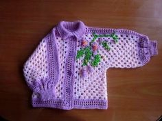 My crochet sweater for kids based on the hexagon granny square.