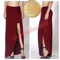 "Grecian Goddess Skirt (Burgundy) HP!!! ✳️Bundle to save 15%!✳️ 95% Rayon 5% Spandex Length: 42"" Ruching detail Elastic waist Fits true to size (adult/misses).  If between sizes, order up a size. CC Boutique  Skirts"