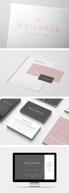 The Wellness Boutique branding by Smack Bang Designs #Branding #BusinessCards #Stationary #Website #GraphicDesign #SmackBangDesigns
