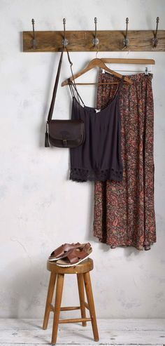 Perfect day-to-evening summer look, featuring our Batik Paisley Maxi Skirt...