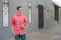 Senior boy posing Texas