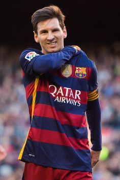 Lionel Messi of FC Barcelona reacts during the La Liga match between FC Barcelona and Granada CF at Camp Nou on January 9, 2016 in Barcelona, Catalonia.