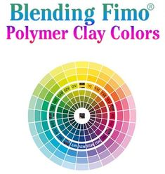 Blending Fimo® Polymer Clay Colors -- In this mixing chart, you'll see the mixtures for the corresponding color. Colors are best blended in a sturdy poly-roller machine. A problem can occur when trying to recreate colors you've mixed in the past. The solution is to create a color chart of polymer clay chips for easy reference. Here's how!