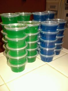 Seahawk Jello Shots