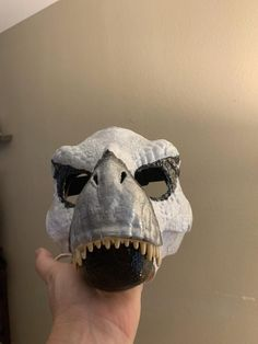 This is a Dino mask for a commission I just completed. Dinosaur Mask, Weird Sisters, Fursuit, Primary Colors, Rings For Men, Handmade Items, Skull, Cosplay, Masks
