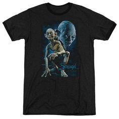 Lor - Smeagol Adult Ringer T- Shirt