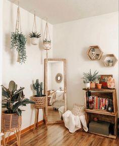 Room Ideas Bedroom, Home Decor Bedroom, Living Room Decor, Bedroom Inspo, Boho Bedroom Diy, Vintage Bedroom Decor, Boho Room, Bohemian Style Bedrooms, Cute Room Decor