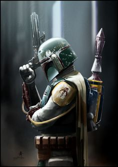 latanieredecyberwolf:  Boba Fett : Bounty Hunter by Andy Fairhurst You can see more here