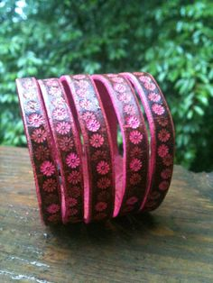 Hey, I found this really awesome Etsy listing at https://www.etsy.com/listing/104261600/pink-brown-multiple-bracelet-effect-cuff