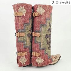 Love these as much as we do?! You can purchase these beauties at @therollinj! Swoon! . . . . #bootrugs #boots #bootcovers #boho #aztec #musthave #western #chic