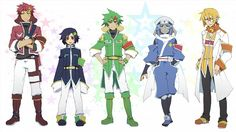 Humanized Keroro cast