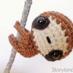 Patron Amigurumi : Zippy le bébé paresseux crochet français DIY (free french pattern)