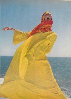 Veruschka in Snapdashio Prints photographed by Henry Clarke vogue 1965