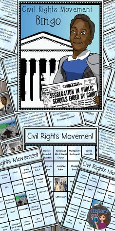 $ Learn about or review key events during the Civil Rights Movement by playing Bingo!