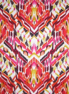 Stretch Knit Fabric Polynesian Ethnic Island by FabricsnLace