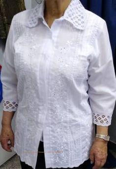 BLUSAS - PRIMAVERAL Bordados y Accesorios Plus Size, Skirts, Women, Style, Fashion, Party Blouses, White Stuff Clothing, Woman Shirt, Dapper Clothing