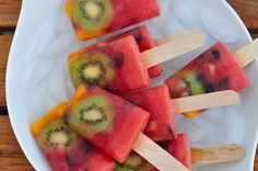 Postre saludable: polo de frutas - Tu cocina sana, fácil y rápida