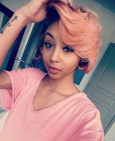 #rp The pink short hair is amazing!! #makeup #pretty #pink #beauty #hot #shorhair #cool #hairinspiration