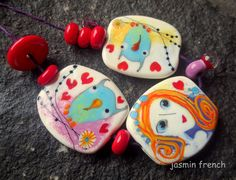 lampwork beads °°sweeties°° by jasmin french on etsy