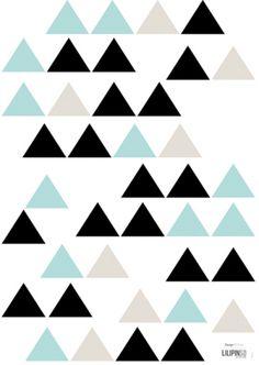 DECOILUZION - Vinilo infantil Triángulos tricolor