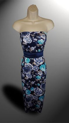 SALE!!! Floral Quilted Jersey Dress Fabric Material (Navy Ground) in Crafts, Fabric   eBay